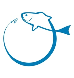 Fish sign vector image vector image