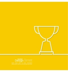 Gold cup of the winner vector image