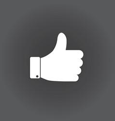 thumb up vector image vector image
