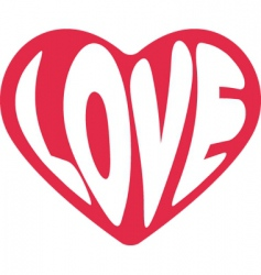 valentine love sign vector image vector image