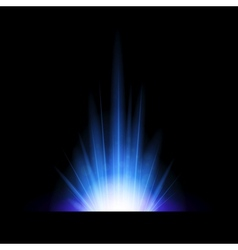 Abstract background with blue lighting flare vector image