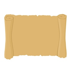 Ancient scroll clean old blank parchment retro vector