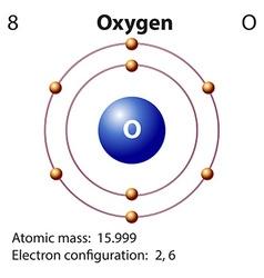 Diagram representation of the element oxygen vector image