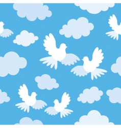 doves pattern vector image vector image