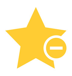 flat star icon favorite sign bookmark button vector image vector image