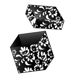 vintage gift box vector image vector image