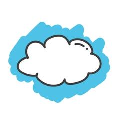 Cartoon doodle cloud vector image vector image