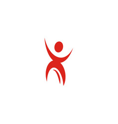 isolated abstract red color human body in motion vector image vector image