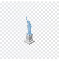 isolated statue of liberty isometric new york vector image vector image