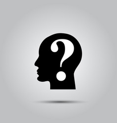 question mark human head vector image vector image