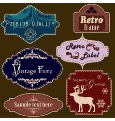 Retro frames set vector image