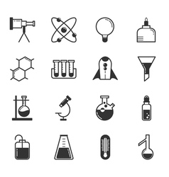 Set of science icons eps10 format vector image vector image