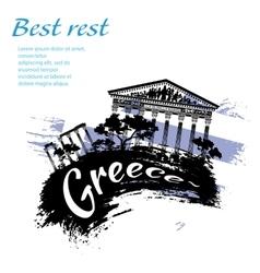 Travel Greece grunge style vector image