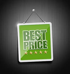 Best price signs hanging with chain vector image vector image