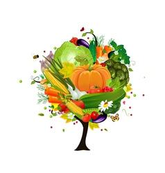 decorative tree vegetable vector image