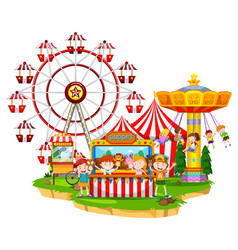 happy children at circus vector image