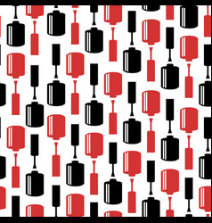 Seamless pattern with nail polish bottles vector