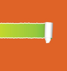 straight tearing paper vector image