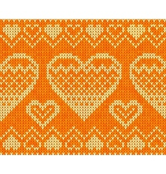 Valentines day knitted seamless pattern vector image vector image