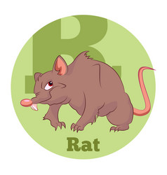 abc cartoon rat vector image
