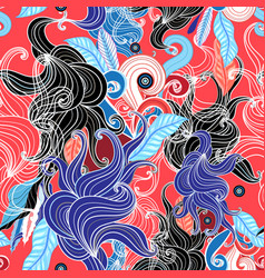 Abstract graphic seamless pattern vector