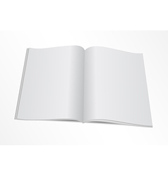 blank opened magazine mock template vector image