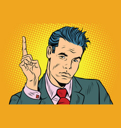 Businessman pointing finger up vector