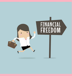businesswoman with financial freedom vector image