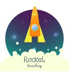 Cartoon rocket 3D set vector image