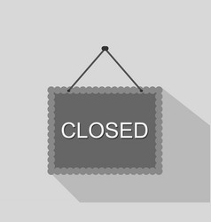 closed sign icon vector image
