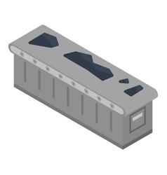 Coal conveyor icon isometric style vector