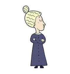 Comic cartoon strict victorian teacher vector