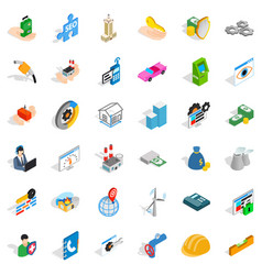 company icons set isometric style vector image