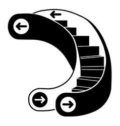 Curve escalator icon simple style vector