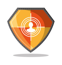 cyber security shield protection hacker vector image