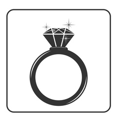 Diamond engagement ring icon 4 vector