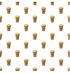 Disposable coffee cup pattern vector