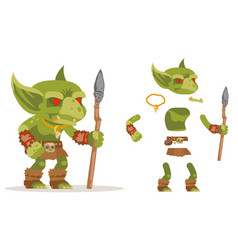 Dungeon monster goblin evil minion fantasy vector