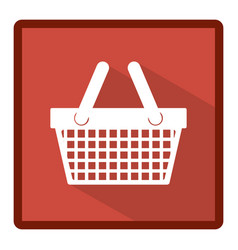 Emblem basket shop icon vector