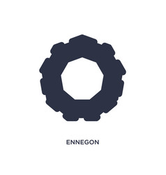 Ennegon icon on white background simple element vector