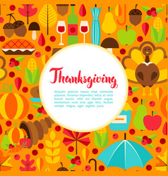 Flat thanksgiving day greeting vector