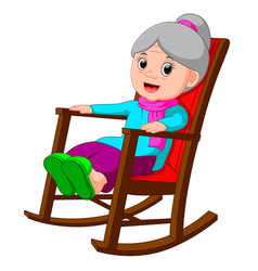 Funny grandmother vector