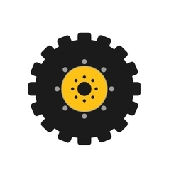 Gear icon Machine part concept graphic vector