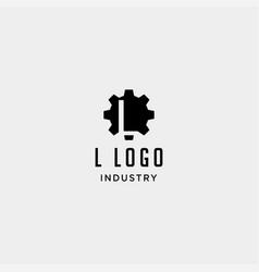 Gear machine logo initial l industry icon design vector