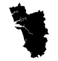 Goa map outline vector