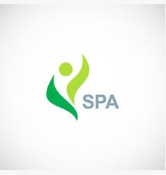 green eco spa logo vector image