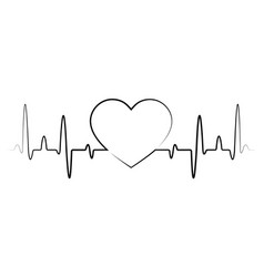 Heart beat monitor pulse line icon for medical vector