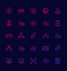 Human resources and personnel management hr icons vector