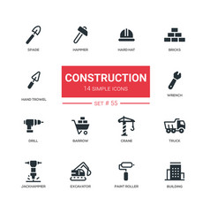 industrial concept construction - line design vector image
