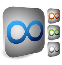 Infinity symbol eeverlasting infinite or cycle vector